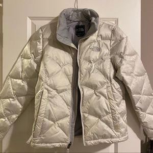 Women's sz M North Face Down Jacket 550 White